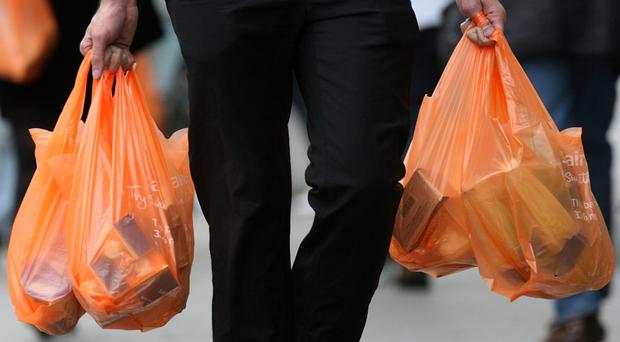 There is a minimum 5p charge for carrier bags at all retailers in Northern Ireland, under legislation introduced in 2013 and aimed at reducing their use (stock photo)