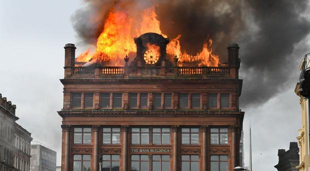 The fire at Bank Buildings