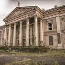 The exterior of the dilapidated Crumlin Road courthouse