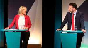Michelle O'Neill and Colum Eastwood