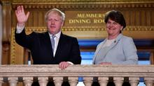 Strained relationship: Prime Minister Boris Johnson with First Minister Arlene Foster
