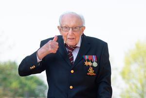 Inspiration: Captain Sir Tom Moore after he completed his garden challenge