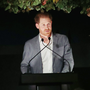Prince Harry speaking to guests at The Ivy Chelsea Garden last Sunday