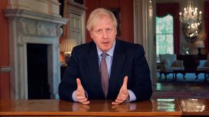Boris Johnson announcing the first stage of relaxing the lockdown restrictions on TV last weekend