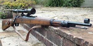 A Mauser rifle that was used in the Spanish Civil War