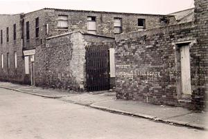 The disused building in Sandy Row where Ann was beaten to death