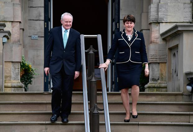 Arlene Foster and Martin McGuinness together before the Executive's collapse