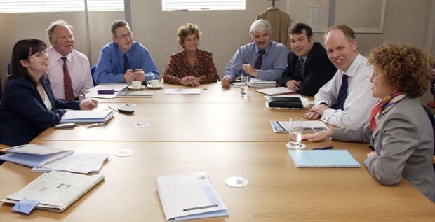 Members of the Northern Ireland Civic Forum meeting back in 2002
