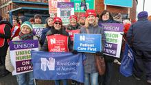 Northern Ireland's nurses took strike action over pay parity and safe staffing levels.