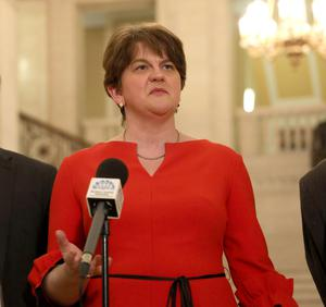 Unionist leaders such as the DUP's Arlene Foster (pictured) and the UUP's Steve Aiken have been accused of being unable to create a more inclusive strategy