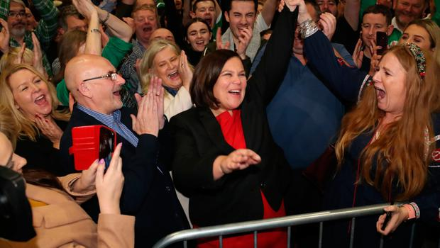 Sinn Fein leader Mary Lou McDonald is elected as ballot papers are counted in Dublin