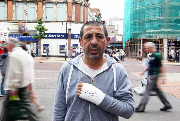 Trader Musa Gulusen, who was assaulted in a racist attack