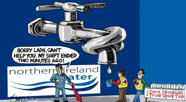 Our cartoon for the day on NI Water