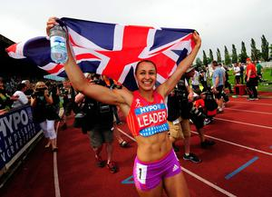 Special moment: Jessica Ennis celebrates her new British record on this day in 2012