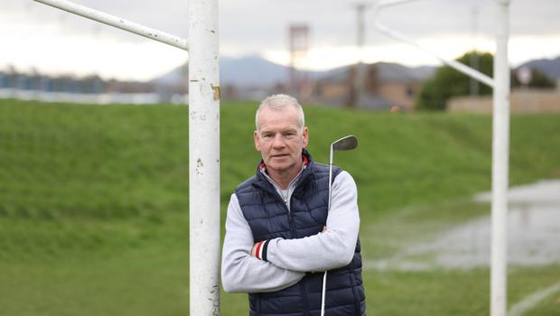 On course: Marty Magee is found with a club in his hand these days