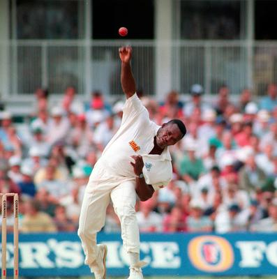 Totally wicket: Devon Malcolm gets ready to destroy South Africa