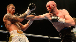 Within reach: Steven Ward en route to beating Liam Conroy