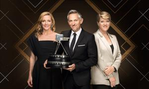 It's such a smugfest: Spoty presenters Gabby Logan, Gary Lineker and Clare Balding
