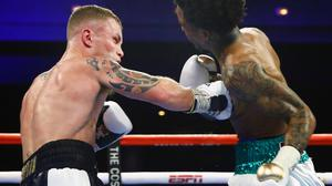 Sweet spot: Carl Frampton catches Tyler McCreary in Vegas