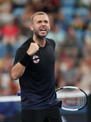 All good: Dan Evans had no trouble in reaching round two
