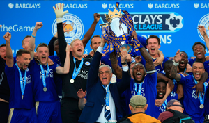 Foxes fairytale: Claudio Ranieri and Leicester City celebrate winning the Premier League