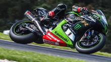 Green machine: Jonathan Rea in action at Phillip Island yesterday