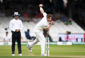 Letting fly: Boyd Rankin bowls during Ireland's Test against England at Lord's last year