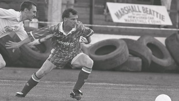 Making strides: Marty Magee in Irish League action with Portadown during his heyday