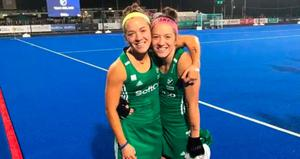Twin aim: Bethany Barr (right) with twin Serena after helping Ireland qualify for the Olympics