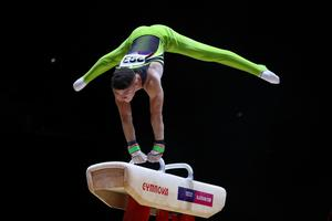 Double dream: Rhys McClenaghan hopes to become the first Olympic and World champion in same year on pommel horse