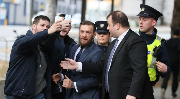 UFC fighter Conor McGregor outside court (Brian Lawless/PA)