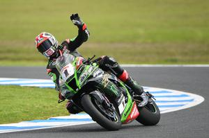 Jonathan Rea in action