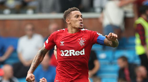 Angry exchange: Rangers skipper James Tavernier has fired back at Chris Sutton