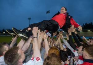 High regard: Feargal Logan masterminded Tyrone's success in the 2015 All Ireland Under-21 Championship