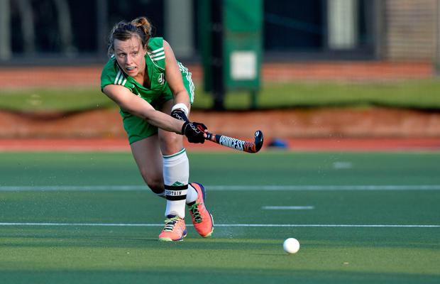 Megan in action for Ireland
