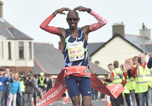 Sir Mo Farah wins in Larne last year