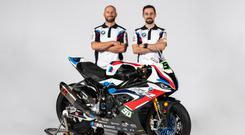 New look: Tom Sykes and Eugene Laverty with the BMW S1000RR