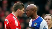 Spot the difference: Gerrard clashed with Diouf as a player but is happy to defend Morelos