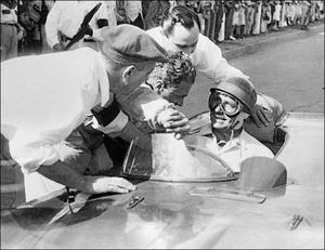 Dominant force: Juan Manuel Fangio roared to five Formula One world titles