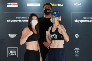 Face off: Katie Taylor, Eddie Hearn and Delfine Persoon