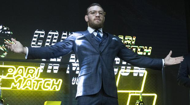 Conor McGregor announced his intentions in a Moscow press conference (Pavel Golovkin/AP)