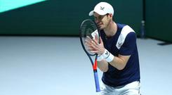 Injury concerns: Andy Murray