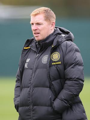 Standing firm: Neil Lennon's Celtic have stood by their fans