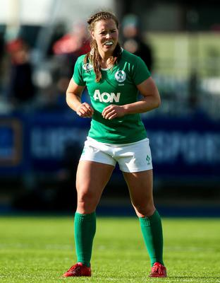 Claire McLaughlin in action for Ireland
