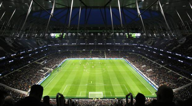 It stands alone: Tottenham Hotspur's stunning new stadium (pictured) has left others like Old Trafford trailing in its wake