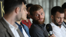 Ready for action: Joe Fitzpatrick at yesterday's press conference at the Europa Hotel ahead of tomorrow night's Ulster Hall bill