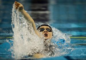 Making waves: Irish record holder Danielle Hill in action