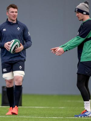 Crunch time: Peter O'Mahony (left) with Johnny Sexton