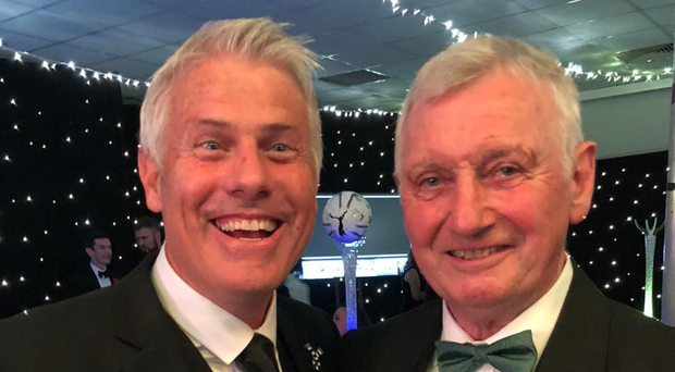 Special night: David Craig and Rob Lee after their Newcastle Hall of Fame induction