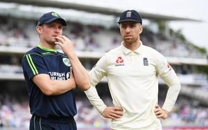 Waiting game: William Porterfield and Jack Leach still hope to clash in an England-Ireland ODI series this year